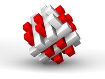 rompecabezas 3D - solucionado Stock de ilustración