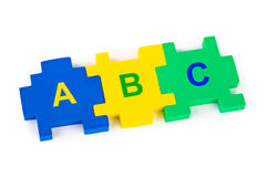 Rompecabezas ABC Fotos de archivo