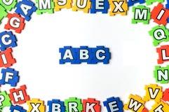 Rompecabezas ABC Fotografía de archivo