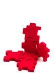 Rompecabezas abierto del cubo. Fotografía de archivo