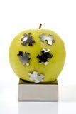 Rompecabezas Apple verde Foto de archivo