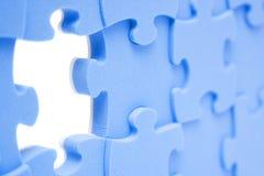 Rompecabezas azul Imagen de archivo