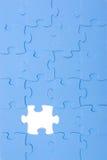 Rompecabezas azul Fotografía de archivo libre de regalías