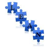 Rompecabezas azules con magro de la palabra Foto de archivo libre de regalías
