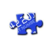 Rompecabezas azules de la tarjeta del credt stock de ilustración
