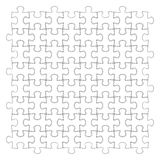 Rompecabezas blanco, ejemplo del vector Fotografía de archivo libre de regalías