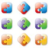 Rompecabezas Button-like Fotografía de archivo