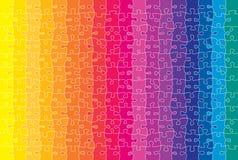 Rompecabezas coloreado ilustración del vector