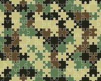 Rompecabezas colorido del camuflaje ilustración del vector