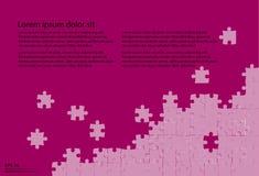 Rompecabezas con el fondo púrpura Fotos de archivo