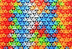 Rompecabezas de goma coloreado Imagen de archivo
