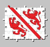 Rompecabezas de la bandera de Winterthur El cantón de la confederación de Suiza ilustración del vector