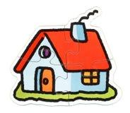 Rompecabezas de la casa Imagen de archivo libre de regalías