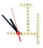 Rompecabezas de la gestión de tiempo imagenes de archivo