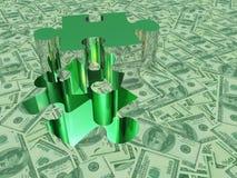 Rompecabezas de la moneda de los E.E.U.U. ilustración del vector