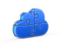 Rompecabezas de la nube stock de ilustración