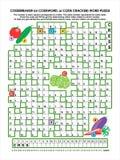 Rompecabezas de la palabra del codebreaker del jardín vegetal Imagen de archivo libre de regalías