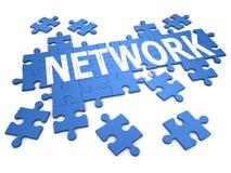 rompecabezas de la red 3d Fotografía de archivo