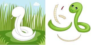 Rompecabezas de la serpiente Fotografía de archivo