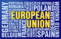 Rompecabezas de la unión europea stock de ilustración