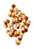 Rompecabezas de las barras de madera Imagen de archivo