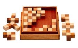 Rompecabezas de las barras de madera Imagenes de archivo
