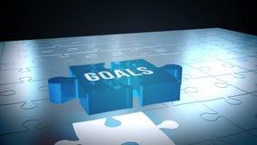 Rompecabezas de las metas que cae en lugar ilustración del vector
