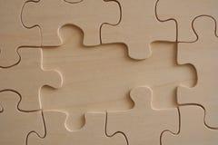 Rompecabezas de madera Foto de archivo libre de regalías