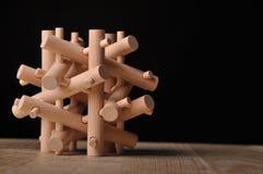 Rompecabezas de madera imagenes de archivo