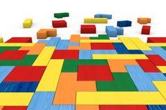Rompecabezas de madera del bloque Imagen de archivo
