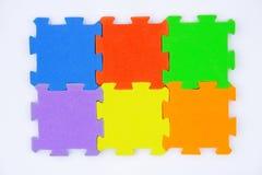 Rompecabezas de rompecabezas colorido Foto de archivo libre de regalías