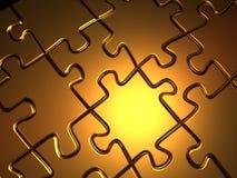 Rompecabezas de rompecabezas de oro stock de ilustración