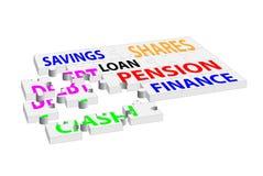 Rompecabezas de rompecabezas financiero de las decisiones Imagen de archivo