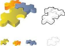 Rompecabezas de rompecabezas: icono 3d Imagen de archivo libre de regalías