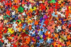 Rompecabezas de rompecabezas multicolor Fotos de archivo libres de regalías