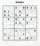 Rompecabezas de Sudoku imágenes de archivo libres de regalías
