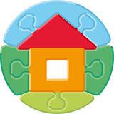 Rompecabezas del â de la pequeña casa Imágenes de archivo libres de regalías