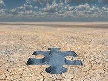 Rompecabezas del agua del desierto imagen de archivo