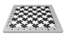 Rompecabezas del ajedrez Imagen de archivo