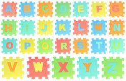 Rompecabezas del alfabeto Imagen de archivo