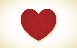 Rompecabezas del corazón Imagen de archivo
