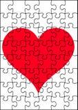 Rompecabezas del corazón Foto de archivo