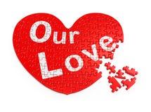 Rompecabezas del corazón del día de San Valentín Imagen de archivo libre de regalías