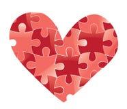 Rompecabezas del corazón. Fondo del amor. Imagen de archivo libre de regalías