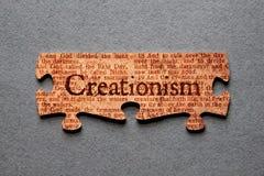 Rompecabezas del creacionismo hecho juego imágenes de archivo libres de regalías