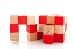 Rompecabezas del cubo Imagen de archivo libre de regalías