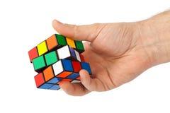 Rompecabezas del cubo disponible Imagen de archivo