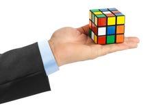 Rompecabezas del cubo disponible Foto de archivo libre de regalías