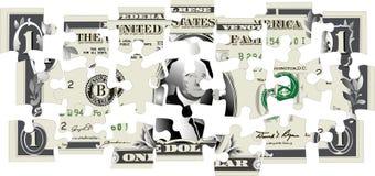 Rompecabezas del dólar Imagen de archivo
