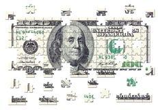 Rompecabezas del dinero en circulación de los E.E.U.U. Imagenes de archivo
